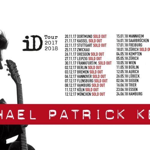 Michael Patrick Kelly Tour 2018 Archive Konzert Und Musiknews