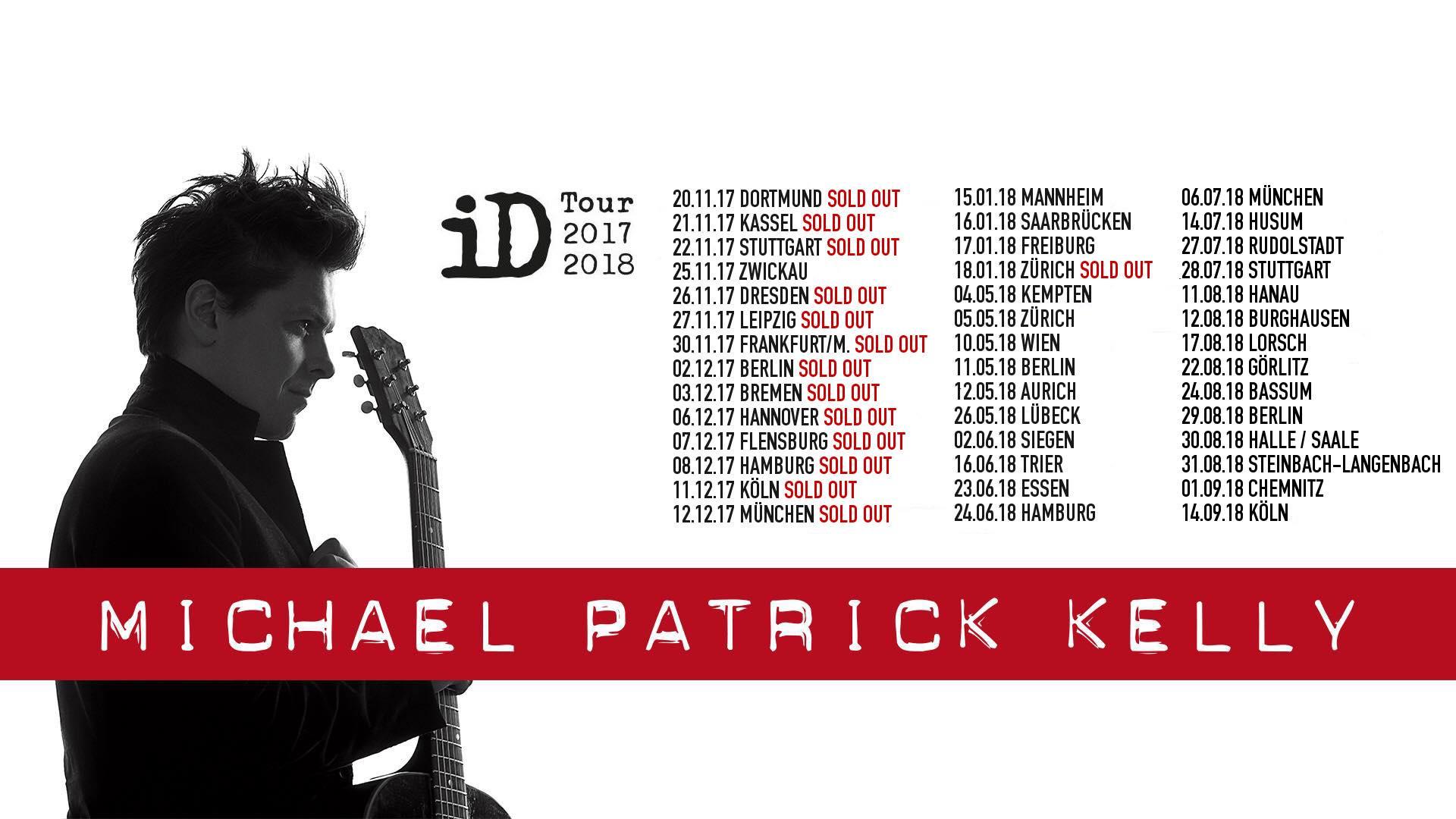 Michael Patrick Kelly Zusatztermine Konzert Und Musiknews