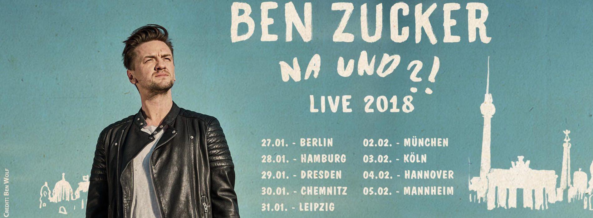 Ben Zucker auf Deutschlandtour