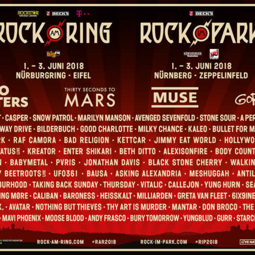 Rock am Ring und Rock im Park – noch mehr Bands!