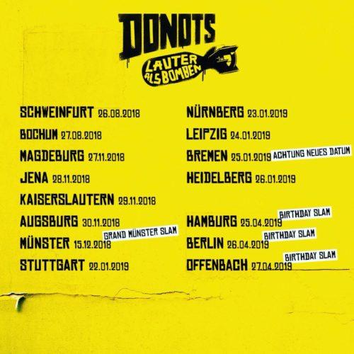Donots – neue Headliner Tour