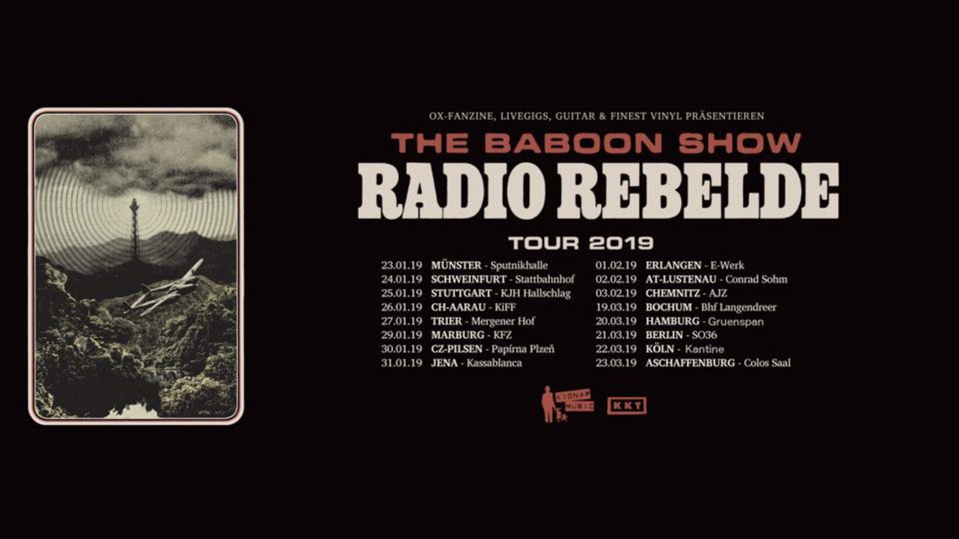 The Baboon Show – 2019 wieder auf Deutschlandtour