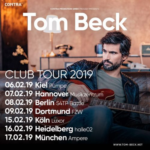 Tom Beck – Clubtour 2019