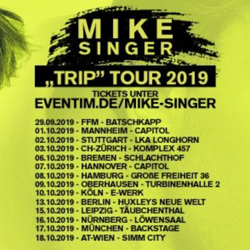 "Mike Singer – ""Trip"" Tour 2019"