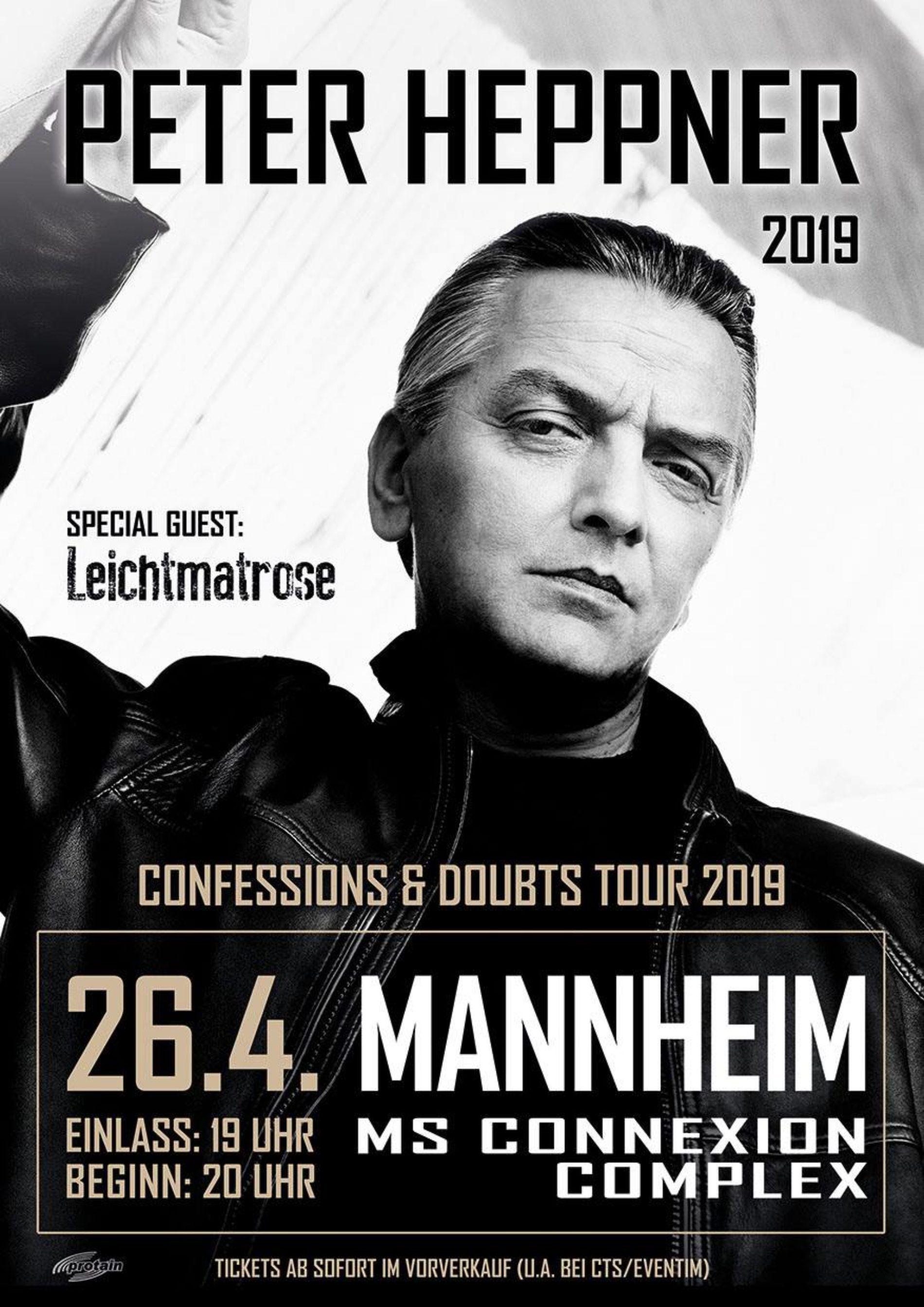 Peter Heppner – Confessions & Doubts Tour 2019