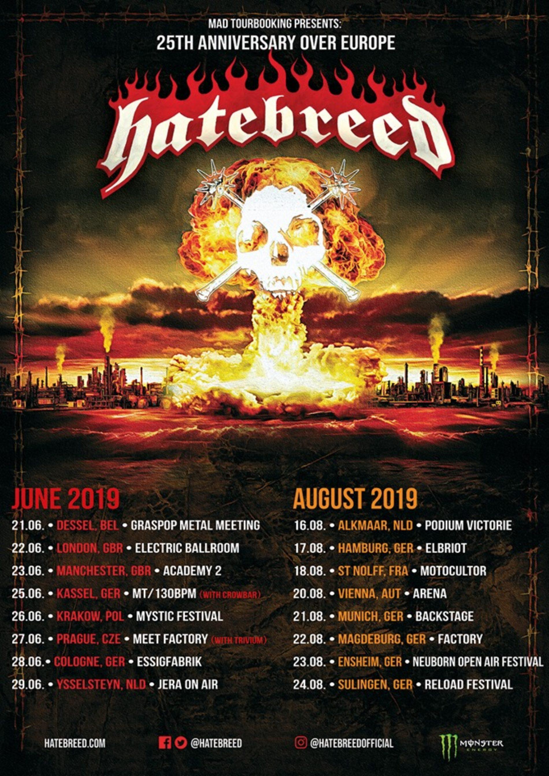 Hatebreed – Jubiläumstour!