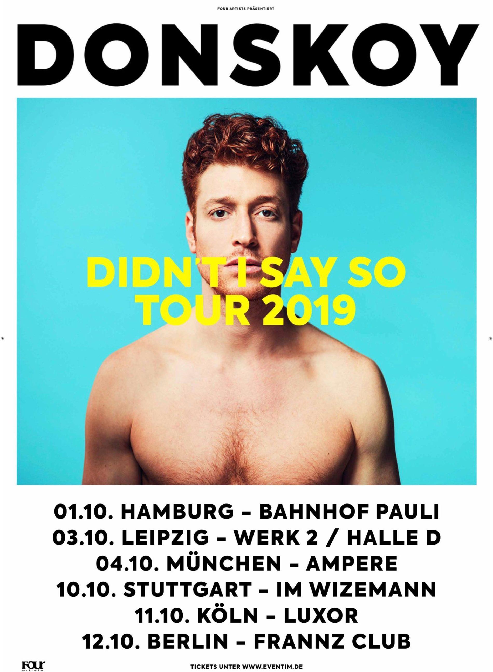Daniel Donskoy auf Tour