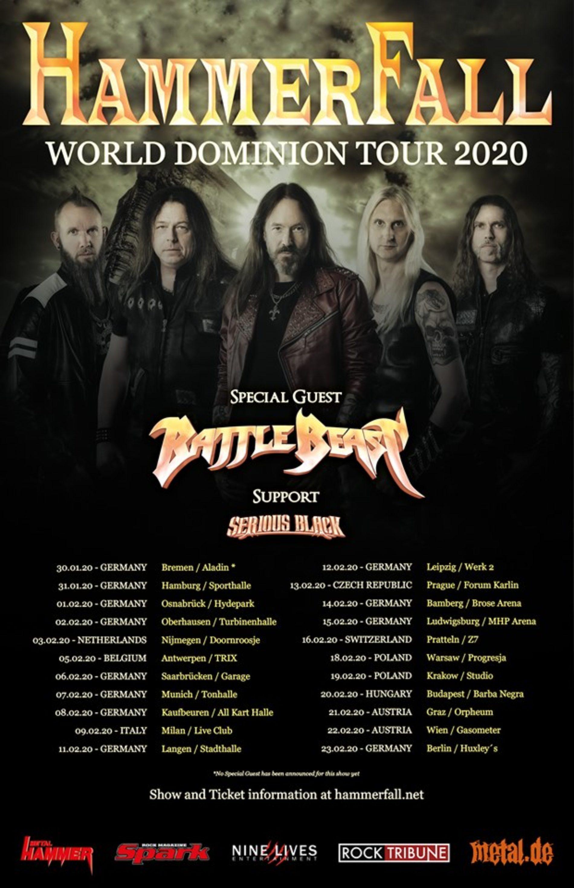 Hammefall – 2020 auf Tour!