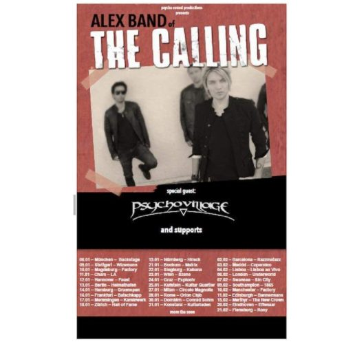 Alex Band of The Calling – zurück in Deutschland