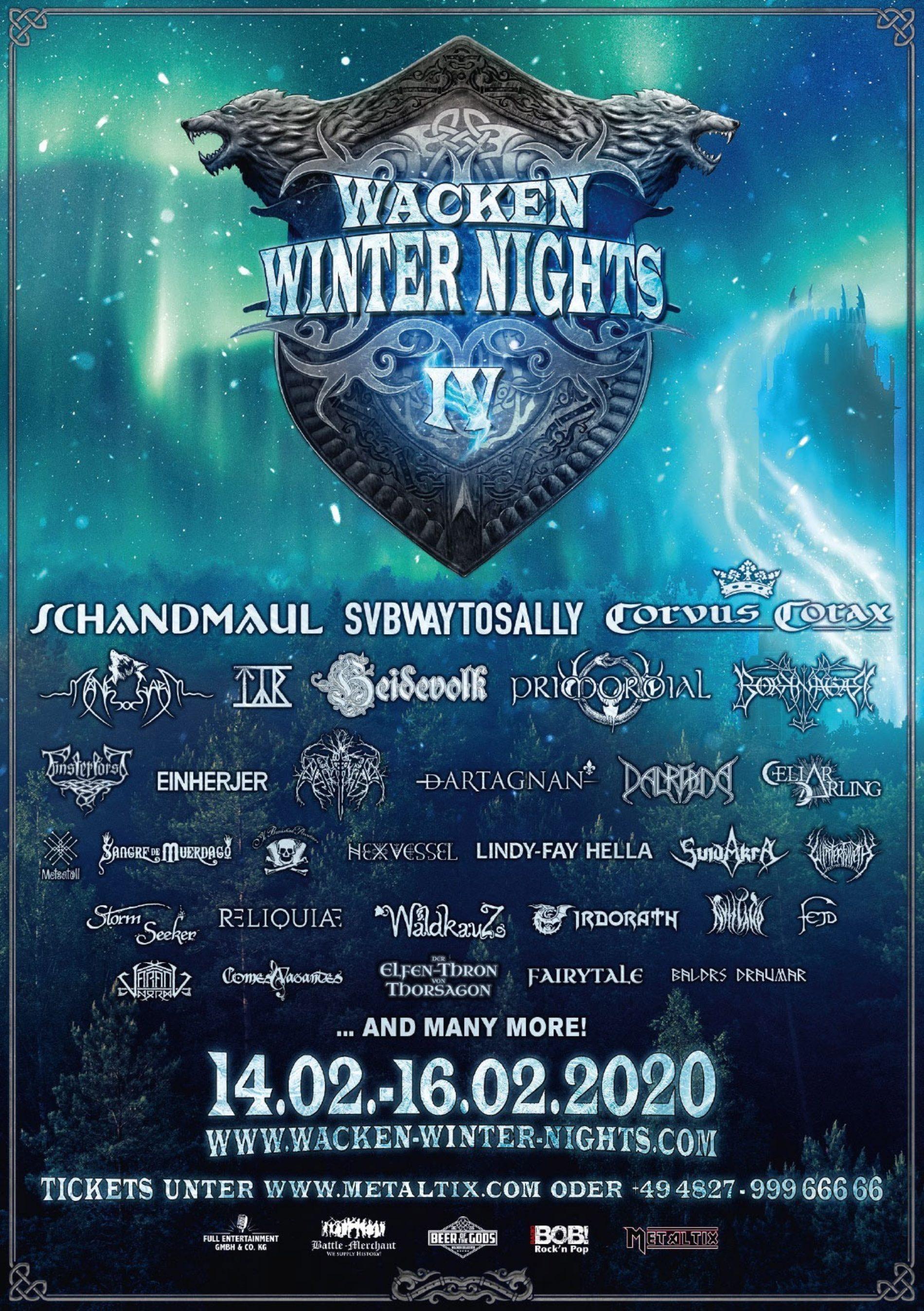Wacken Winter Nights – vollständiges Lineup und Festivalplan sind da!