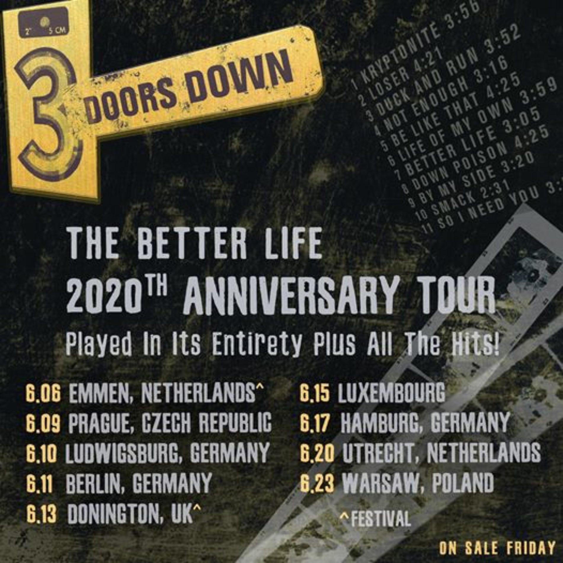 3 Doors Down im Juni in Deutschland
