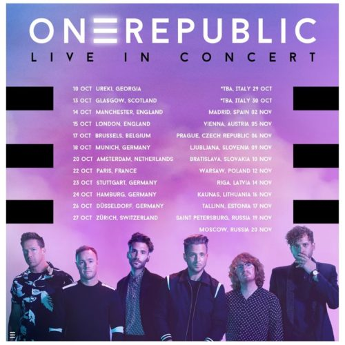 One Republic – Tour im Oktober 2020