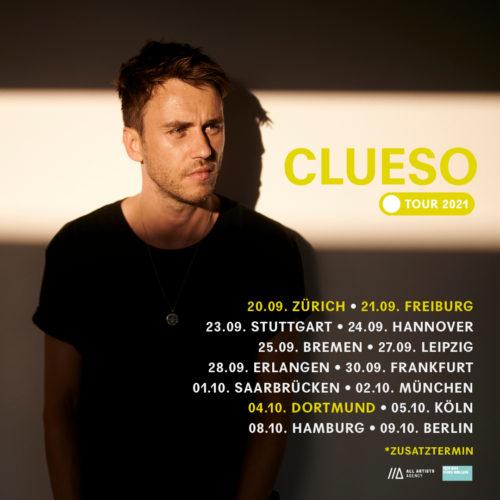 Clueso – im Winter 2020 auf Tour! / ++ Update ++ 2021