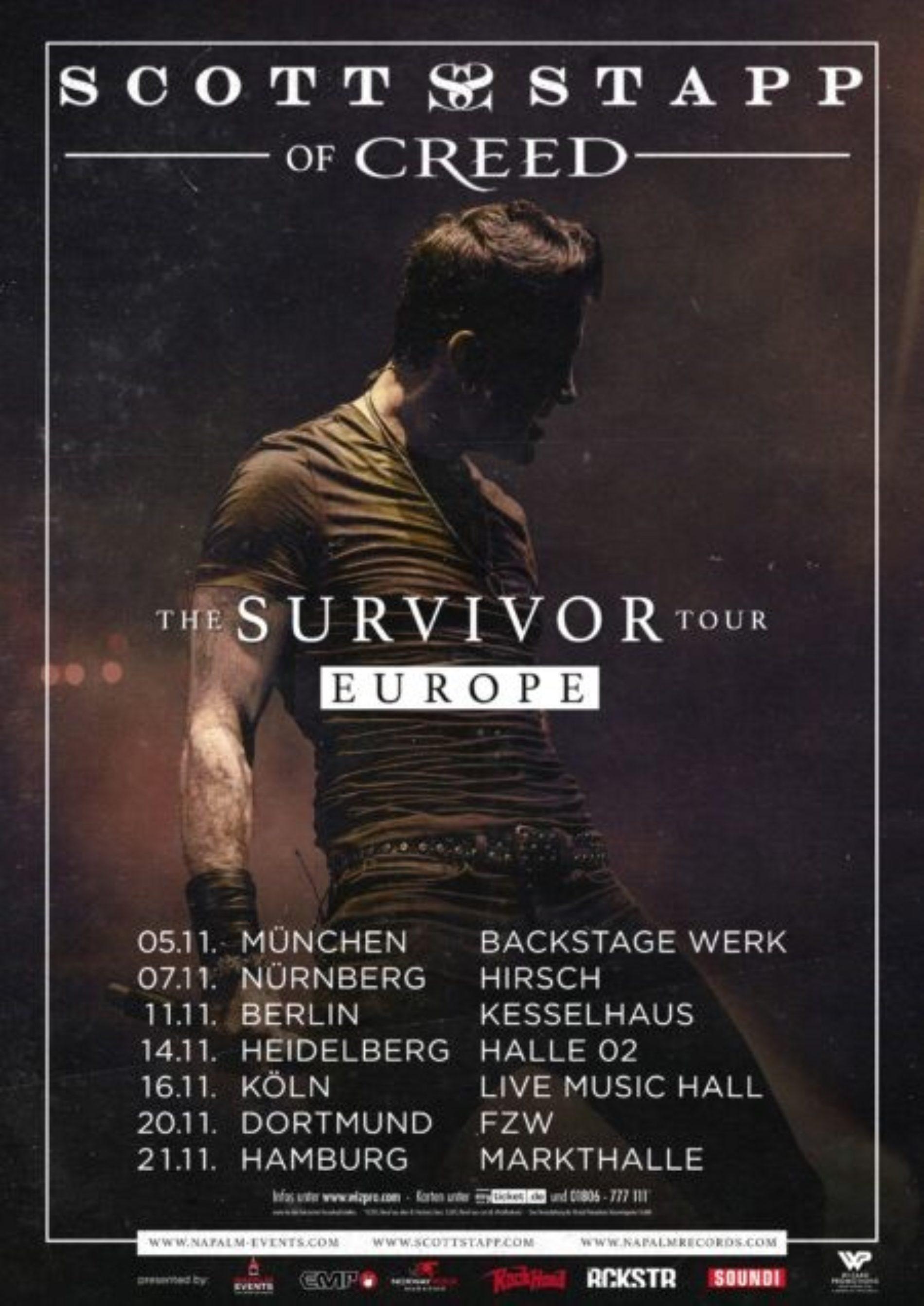 Scott Stapp von Creed kommt auf Tour
