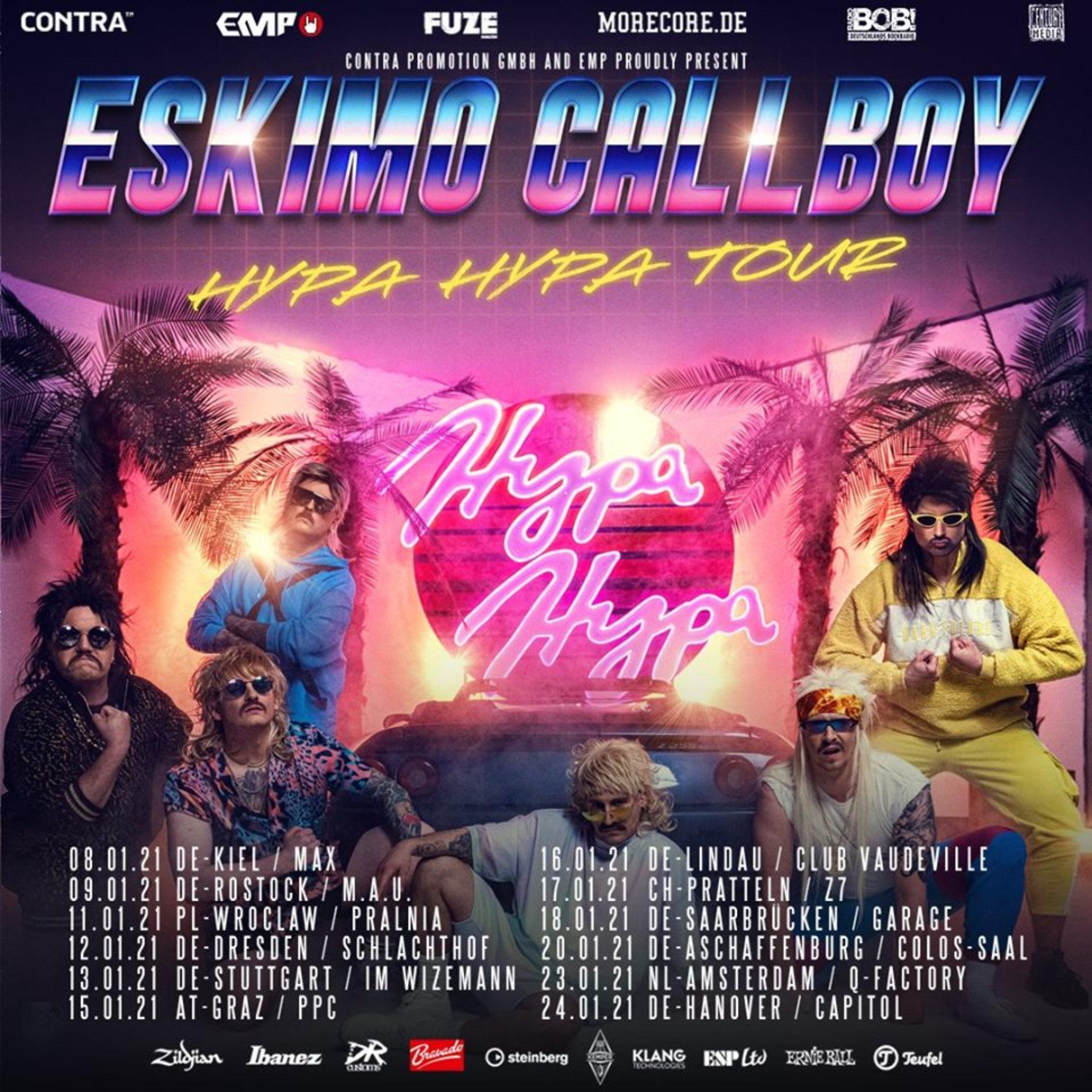 Eskimo Callboy – Hypa Hypa Tour 2021