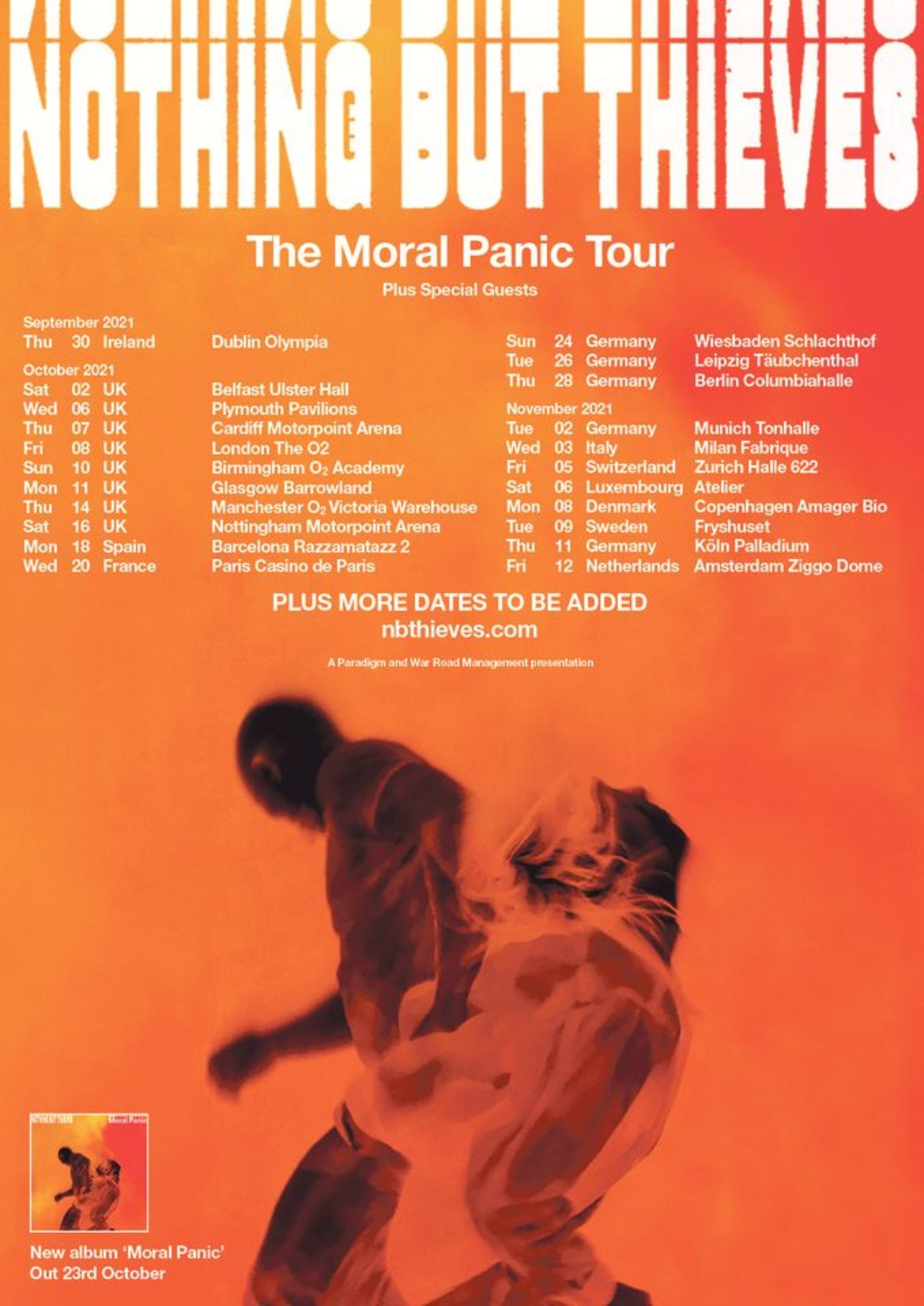 Nothing But Thieves – The Moral Panic Tour 2021
