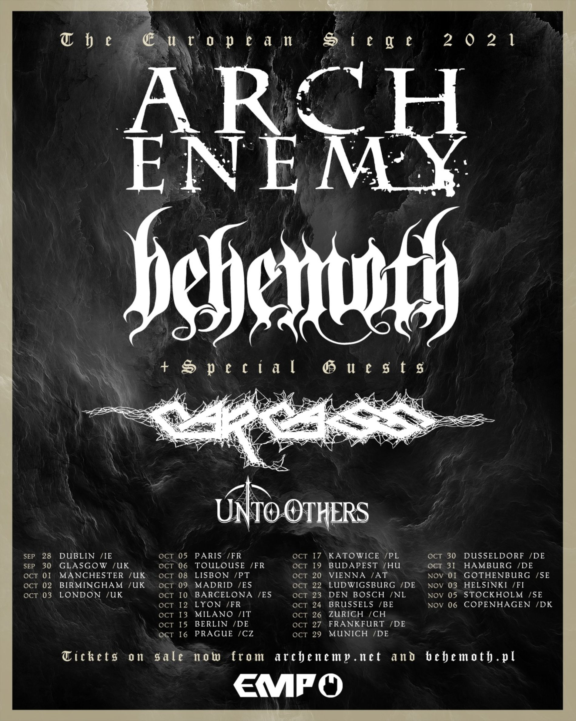 Arch Enemy und Behemoth – Europa-Headliner-Tour 2021